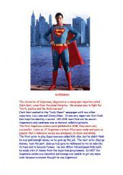 Superhero (Superman) comprehension questions