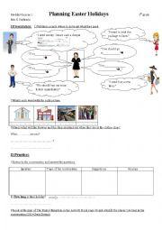 English Worksheet: Playing Easter Holidays