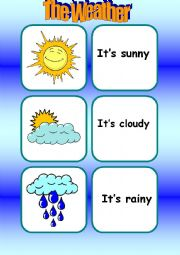 The Weather [Flashcards]
