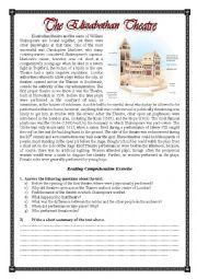 english worksheets the elizabethan theatre. Black Bedroom Furniture Sets. Home Design Ideas