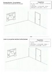 English Worksheet: Drawing dictation