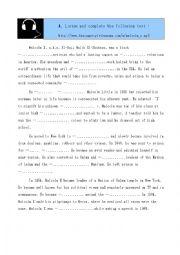 English Worksheet: Do ypu know Malcolm X?