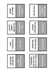 English Worksheet: Follow me cards