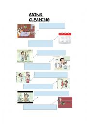 English Worksheet: M. Bean spring cleaning