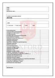 English Worksheet: Assesstment report for MOVERS