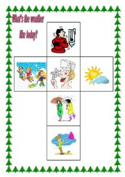 English Worksheet: weather dice (game)