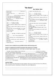 So Soon by Maher Zain - ESL worksheet by favouritemorad