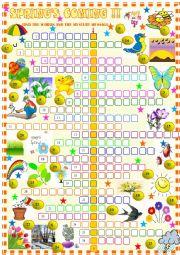 English Worksheet: Spring :crossword puzzle