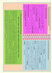 English Worksheet: Review acrivities (1st form, 3rd term)