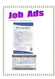 English Worksheet: Jobs ads 3