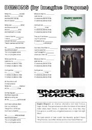 English Worksheet: Imagine dragons - demons
