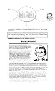 Indira Gandhi - Life and thoughts