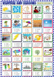 weather and seasons multiple choice activity esl worksheet by spied d aignel. Black Bedroom Furniture Sets. Home Design Ideas