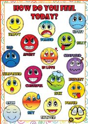 English Worksheet: Feelings and Emotions - POSTER
