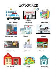 english worksheets workplace pictionary. Black Bedroom Furniture Sets. Home Design Ideas