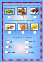 Do you like...? Food song worksheet