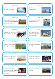 English Worksheet: Travel Trivia