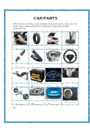 Car Parts Vocabulary WS