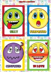 Feelings and Emotions - FLASHCARDS (2-4)