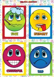 Feelings and Emotions - FLASHCARDS (3-4):