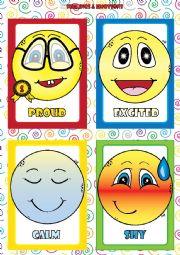 English Worksheet: Feelings and Emotions - FLASHCARDS (4-4)