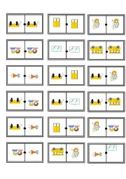 English Worksheet: wheels on the bus domino