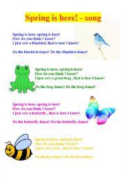 Spring is here -lyrics