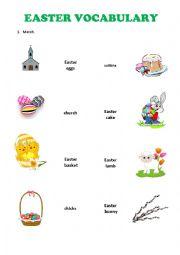 English Worksheet: Vocabulary - Easter
