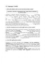 English worksheet: English Test ( Tunisian school)