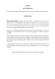 English Worksheet: Reading - Gordon Ramsay and Jamie Oliver