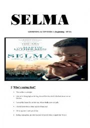 English Worksheet: SELMA movie Listening Activities 1 (14 pages keys included)