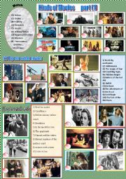 English Worksheet: Kinds of Movies      part (1)