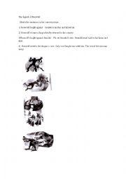 English Worksheet: Matching