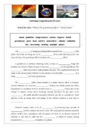 English Worksheet: Greenhouse Effect - listening activity