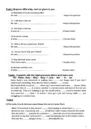 English Worksheet: rmedial for 1st year student