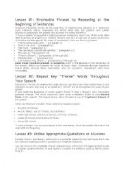 English Worksheet: I HAVE A DREAM LESSON