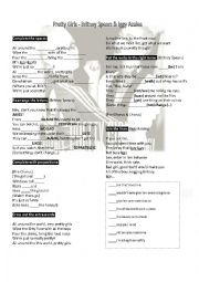 English Worksheet: Pretty Girls - Britney Spears & Iggy Azalea