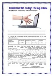 English Worksheet: TEENS, THE INTERNET AND  SOCIAL MEDIA