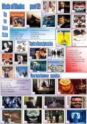 English Worksheet: Kinds of Movies  (part 2) + Key