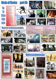 English Worksheet: Kinds of movies  (part 3) + key