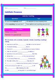 English Worksheet: Indefinite Pronoun_anybody everybody nobody