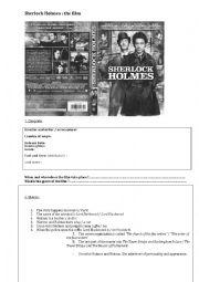 english worksheets sherlock holmes the film. Black Bedroom Furniture Sets. Home Design Ideas