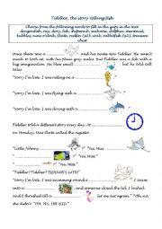 English Worksheet: Tiddler, the story telling fish, by Julia Donaldson
