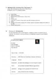 English Worksheet: Applying for job.Worksheet.