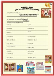 English Worksheet: Have you been to the butcher�s ? guessing game or pair work
