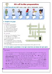 English worksheet: It´s all in the preparation