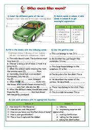 English worksheet: who was the man