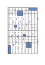 English Worksheet: Battleship with Numbers 2