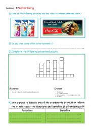 English worksheet: 2nd Year Economics 2 Advertising