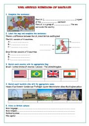 English worksheet: The United Kingdom
